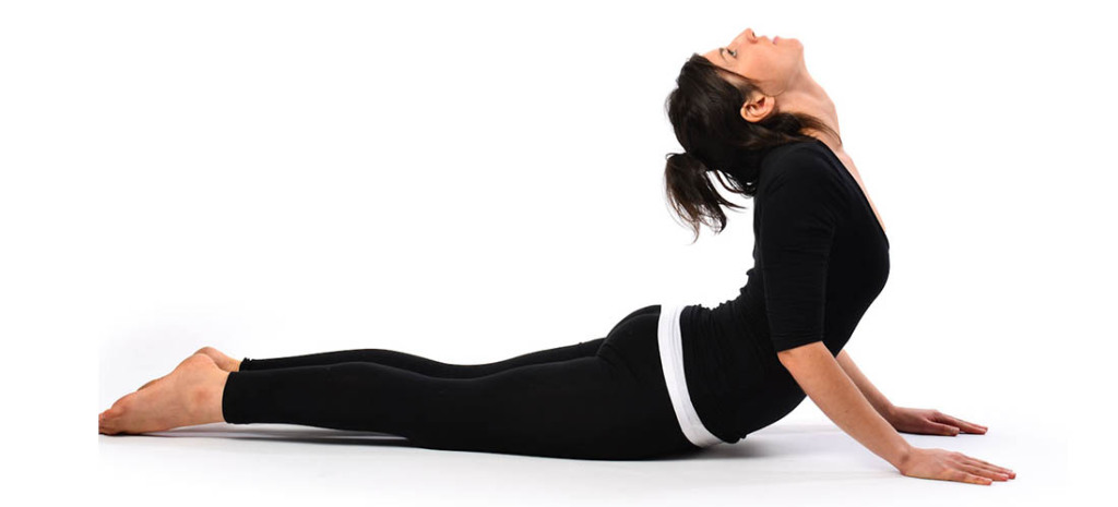 Lie down and lift up your torso in a Cobra pose to strengthen your liver. #Yoga