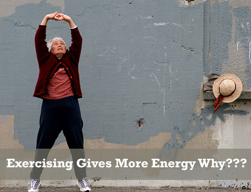 exercising gives more energy