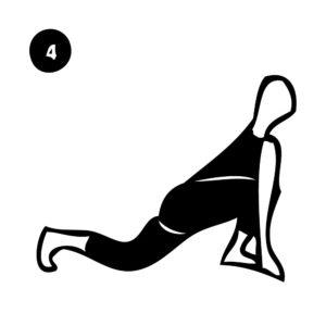 4-low lunge pose