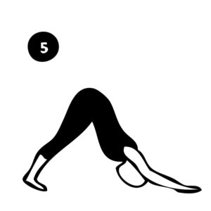 5-inclined plank pose