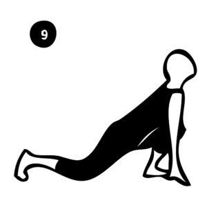 9-low lunge pose