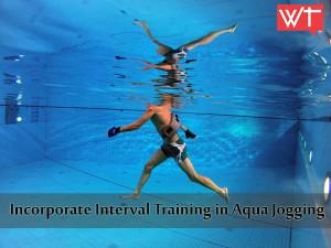 incorporate interval training in aqua jogging