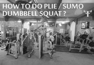 SUMO DUMBBELL SQUAT/DEADLIFT