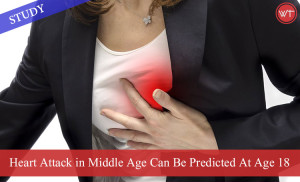 Heart Attack in Middle Age Can Be Predicted At Age 18