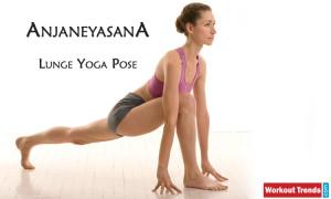 Anjaneyasana lunge yoga pose