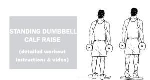 How To Do standing dumbbell calf raise