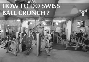 how to do swiss ball crunch