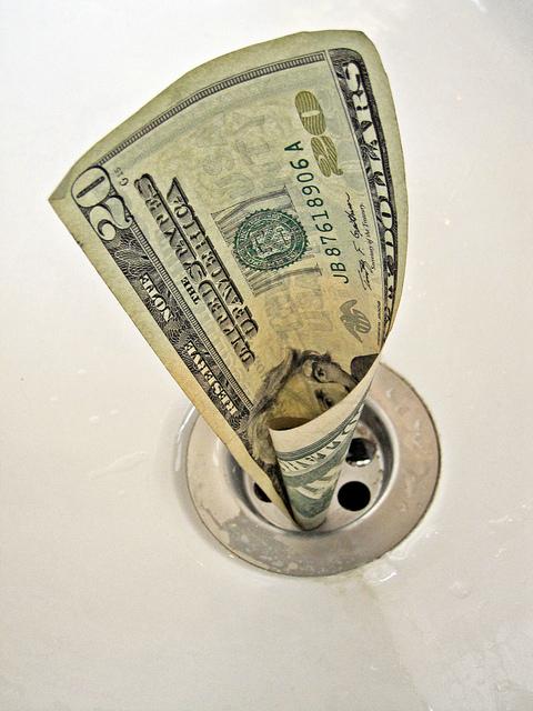 money in drain