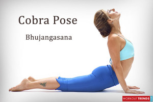 Yoga pose bhujangasana