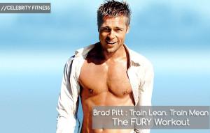 fury: brad pitt workout
