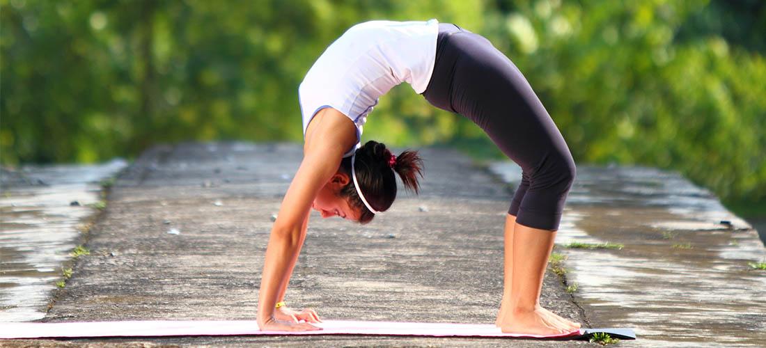 Yoga Pose Wheel Pose Chakrasana Workout Trends
