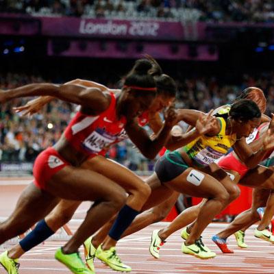 100m running