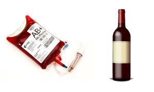 red wine blood