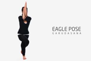 Eagle pose Garudasana