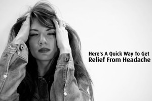 Here's A Quick Way To Get relief from #headache - #health #yoga