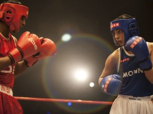 Priyanka in a boxing scene in the biopic Mary Kom