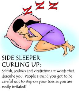 sleeping in foetal position