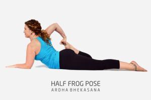half frog pose Ardha bhekasana
