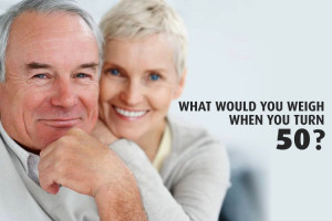What would you weigh when you turn 50