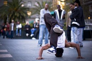 B-boying on the streets