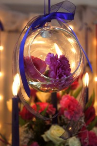 Flowers and scented candles
