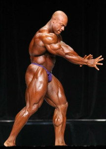 Phil Heath contesting for Mr. Olympia