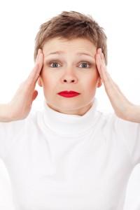 girl having a headache