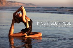 king pigeon pose