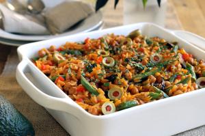 Vegetable-Orzo-Paella