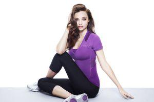 Miranda Kerr shoot for Reebok by Women's Fitness