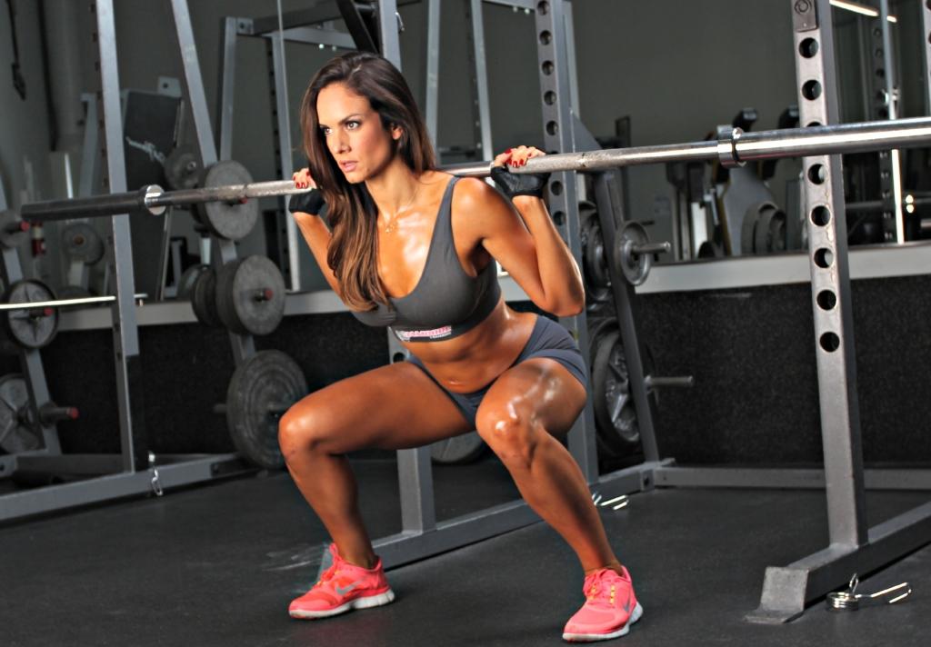 Women weight lifting
