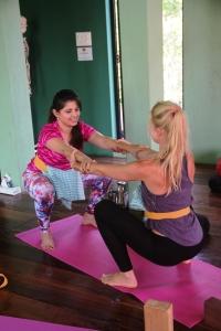 Vidisha performing prenatal yoga