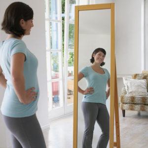 Mirror admiration weight loss