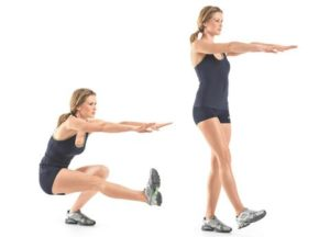 Pistol or single leg squat