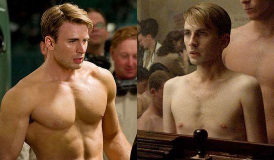 captain america - steve rogers body transformation